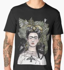Frida Kahlo self portrait version Men's Premium T-Shirt