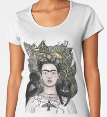 Frida Kahlo self portrait version Women's Premium T-Shirt