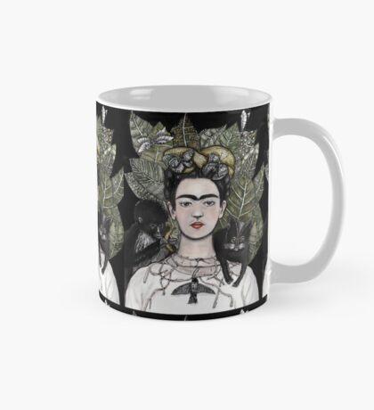 Frida Kahlo self portrait version Mug