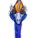 "Cassowary - ""Smile""! by Linda Callaghan"