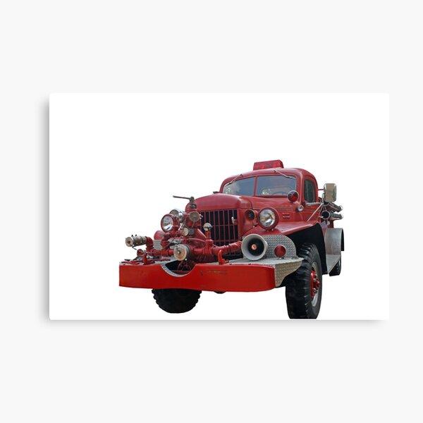 Antique Fire Truck Canvas Print