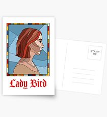 Lady Bird Stained Glass  Postcards