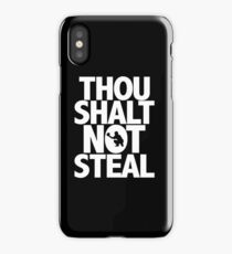Baseball Funny Design - Thou Shalt Not Steal iPhone Case/Skin