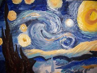 Reproduction of Van Gogh's Starry Night by DarlaDixon