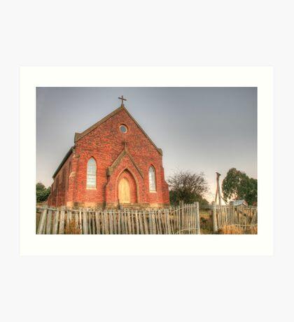 Hill End Church  Art Print