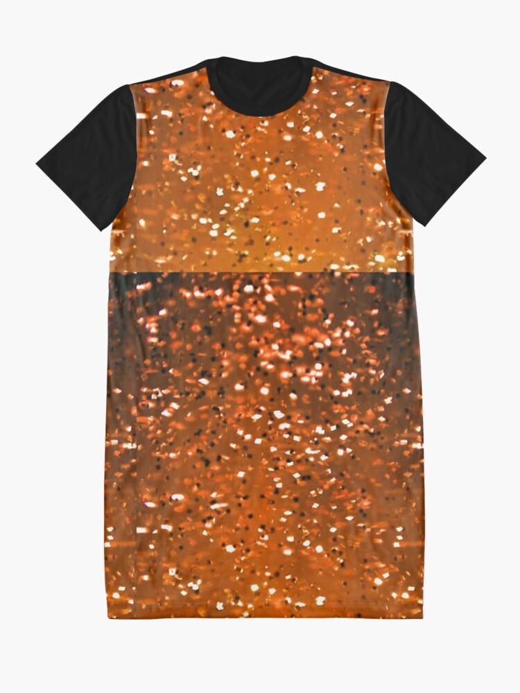 Alternate view of Orange Sparkles Graphic T-Shirt Dress