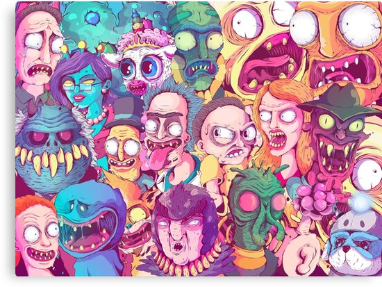 Rick and Morty Doodle by fernandonunes