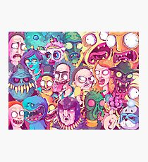 Rick and Morty Doodle Photographic Print