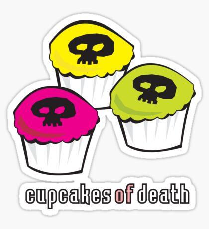 Cupcakes of Death Sticker