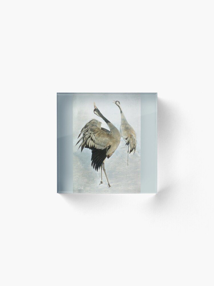 Alternate view of The Dance of the Cranes - 2 of 2 Acrylic Block