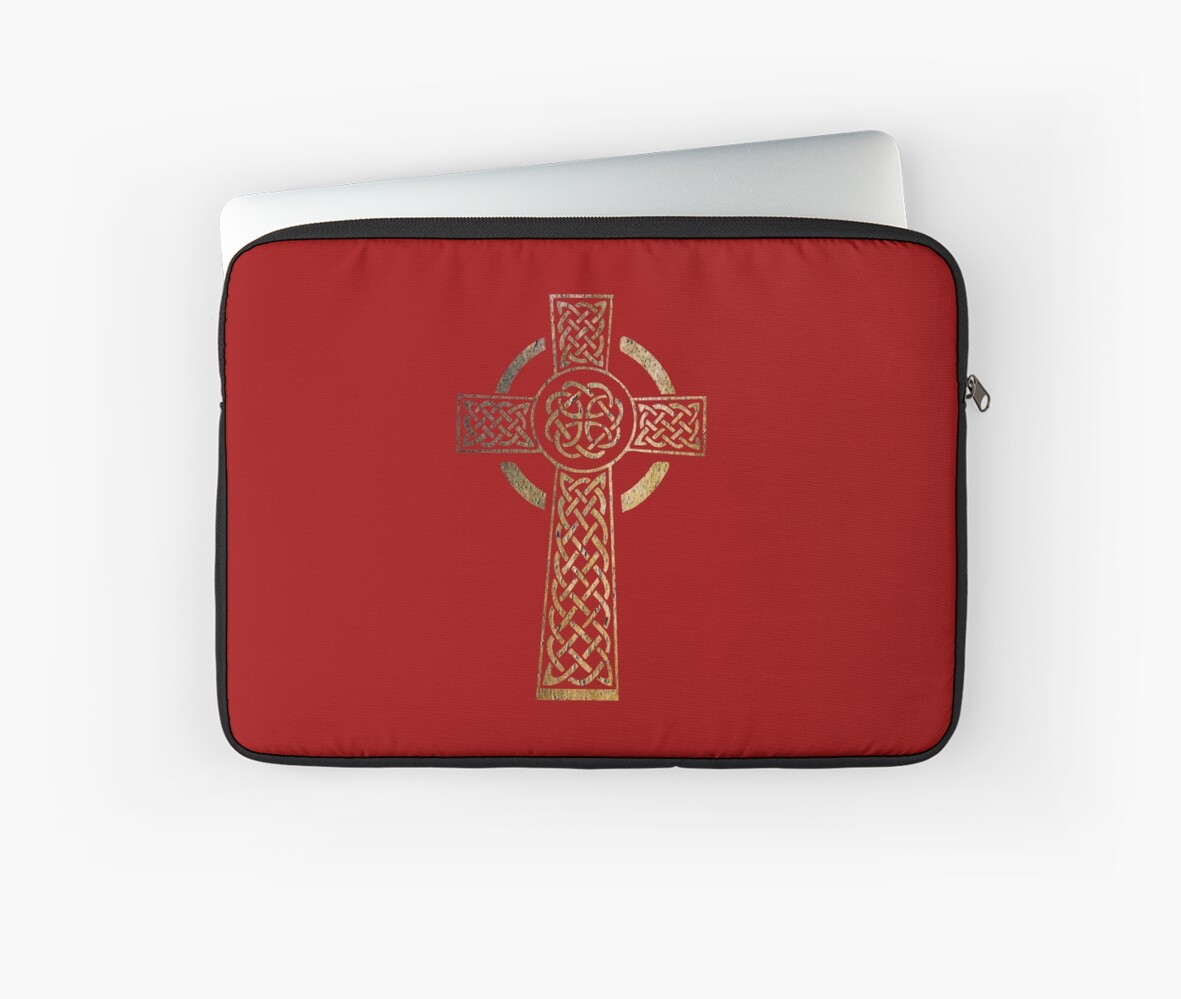 Celtic Cross Pagan Rune Symbol Laptop Sleeves By Ice Tees Redbubble