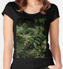The Green of the Mackinac Island Forest Floor Women's Fitted Scoop T-Shirt