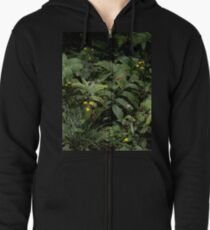 The Green of the Mackinac Island Forest Floor Zipped Hoodie