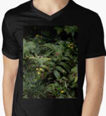 The Green of the Mackinac Island Forest Floor Men's V-Neck T-Shirt