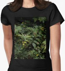 The Green of the Mackinac Island Forest Floor Women's Fitted T-Shirt