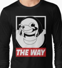 OBEY THE WAY - Ugandan knuckles Long Sleeve T-Shirt