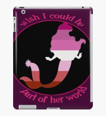 Part of her world, lesbian edition iPad Case/Skin