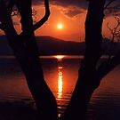 Sunset over Loch Lomond Scotland UK by AnnDixon