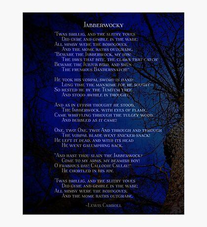 Jabberwocky - Lewis Carroll - poem - dark forest Photographic Print