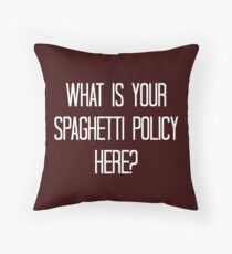 Spaghetti Policy Throw Pillow