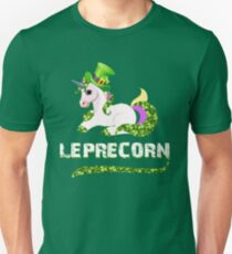 Funny Leprecorn T-Shirt, St Patricks Day Leprechaun Unicorn Gift Unisex T-Shirt