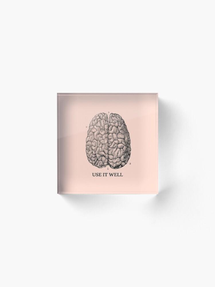 Alternate view of Use it well - Brain  Acrylic Block