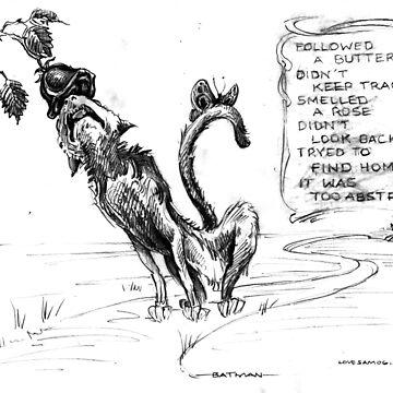 Ode to Bat Man the cat... by SamDantone