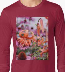 Mackinac Island Tiger Lilies and Echinacea Long Sleeve T-Shirt