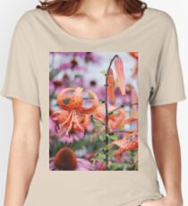 Mackinac Island Tiger Lilies and Echinacea Women's Relaxed Fit T-Shirt