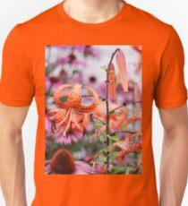 Mackinac Island Tiger Lilies and Echinacea Unisex T-Shirt