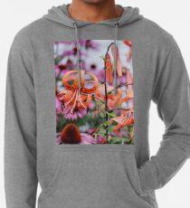 Mackinac Island Tiger Lilies and Echinacea Lightweight Hoodie
