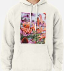 Mackinac Island Tiger Lilies and Echinacea Pullover Hoodie
