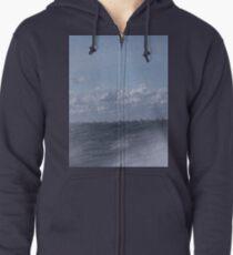 Abstract of Mackinac Island Ferry Ride Zipped Hoodie