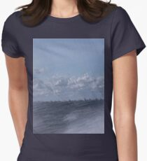 Abstract of Mackinac Island Ferry Ride Women's Fitted T-Shirt