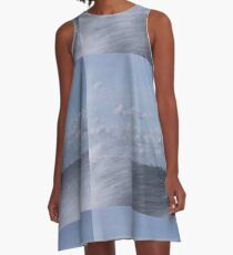 Abstract of Mackinac Island Ferry Ride A-Line Dress
