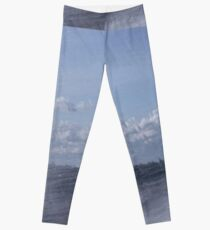 Abstract of Mackinac Island Ferry Ride Leggings