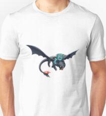 Blinky riding Toothless Unisex T-Shirt