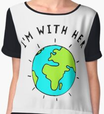 Im With Her, Earth Chiffon Top