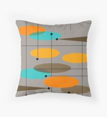 Mid-Century Modern Ovals III Throw Pillow