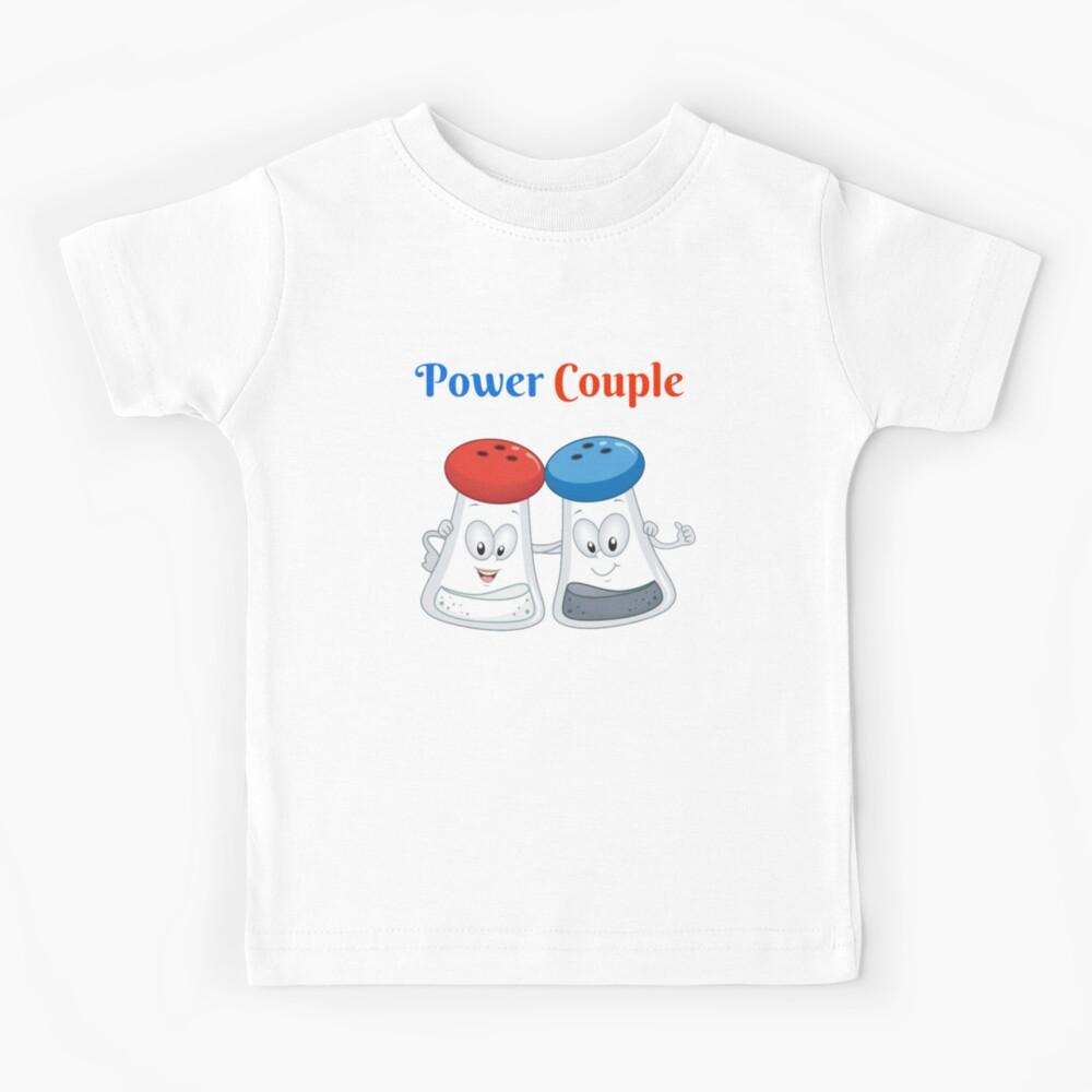 Salz und Pfeffer Power Paar Salzstreuer Pfefferstreuer Set Kinder T-Shirt