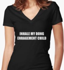 Inhale Women's Fitted V-Neck T-Shirt