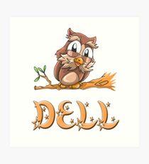 Dell Owl Art Print