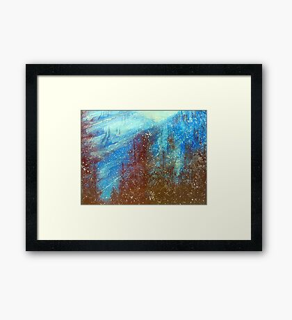 Snowmass   Blue On Blue      ( My Paintings ) Framed Print