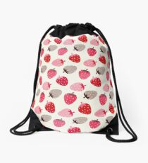 Strawberry Fields Drawstring Bag