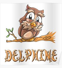 Delphine Owl Poster