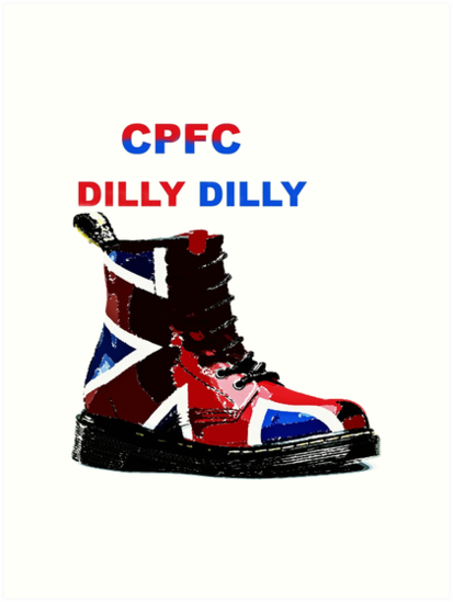 CPFC Dilly Dilly Dr Marten Boots - Crystal Palace Eagles\