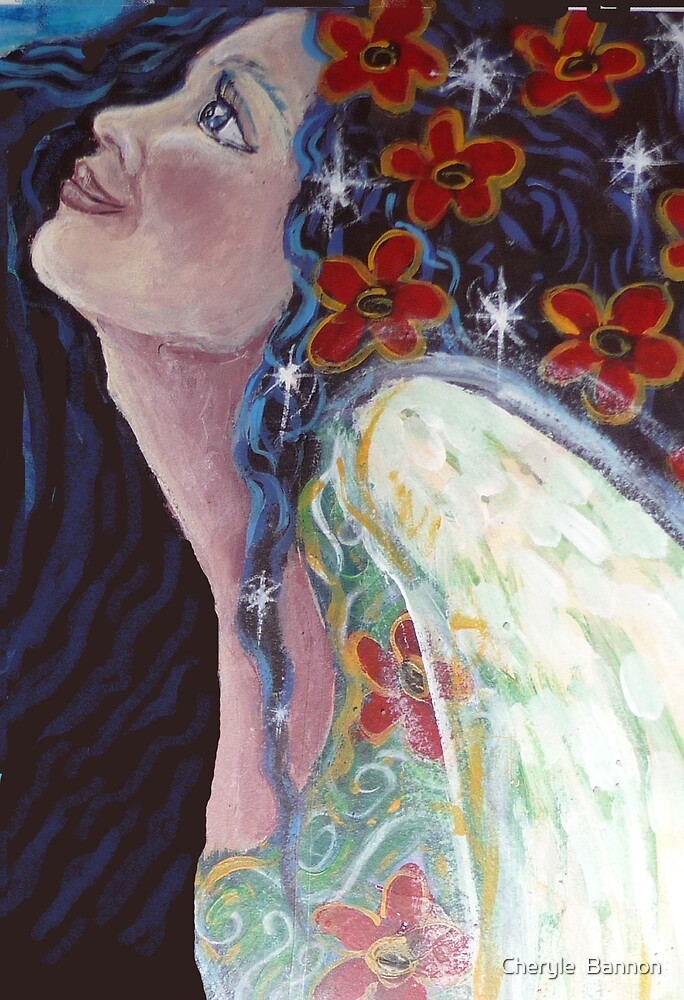 Angel dreaming... by Cheryle  Bannon