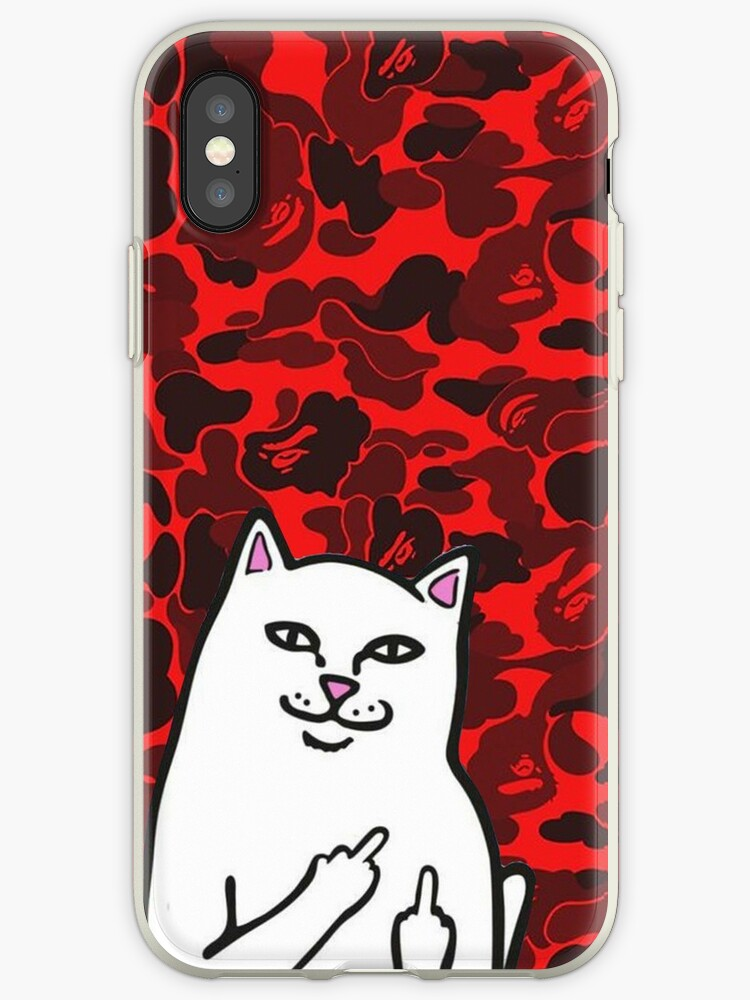 pretty nice db1a7 fc5f2 'red bape fuck you ' iPhone Case by setourgo