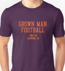 Grown Man Fußball Clemson 1 Slim Fit T-Shirt
