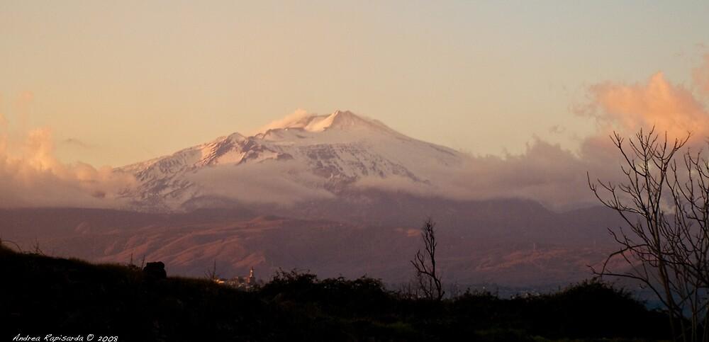 Etna at sunset by Andrea Rapisarda